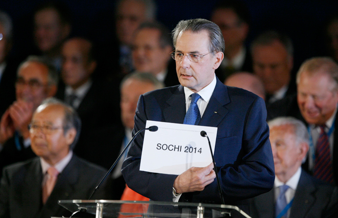 International Olympic Committee president Jacques Rogge announces that the 2014 Winter Olympics will be held in Sochi, Russia, at the 119th International Olympic Committee session in Guatemala City July 4, 2007. (Reuters / Juan Carlos Ulate)