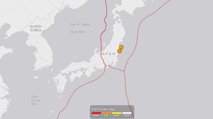 Two quakes strike near Fukushima