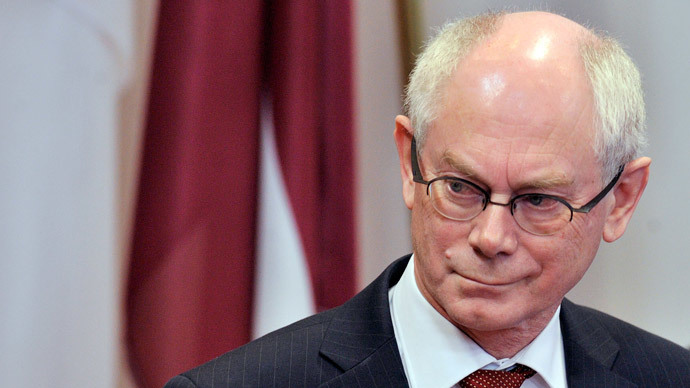 EU Council president Herman Van Rompuy (AFP Photo / Georges Gobet)