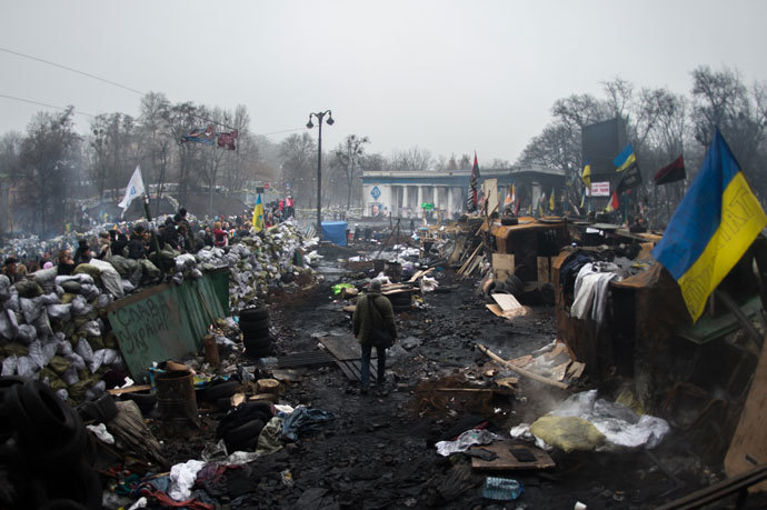Kiev on February 9, 2014.(AFP Photo / Martin Bureau)
