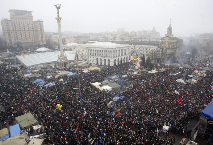 Kiev on February 9, 2014.(AFP Photo / Yuriy Kirnichny)