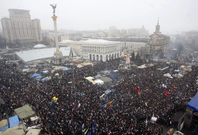 Kiev on February 9, 2014.(AFP Photo / Yuriy Kirnichny)