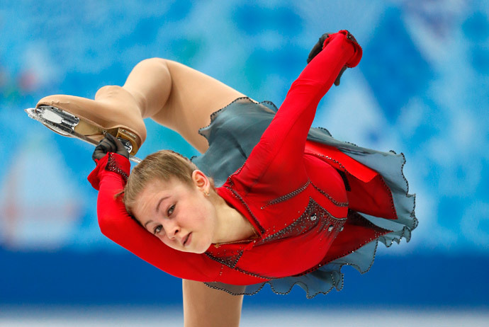 Yulia Lipnitskaia.(AFP Photo / Adrian Dennis)