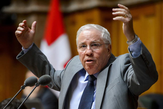 Swiss National Councilor Christoph Blocher (AFP Photo / Fabrice Coffrini)