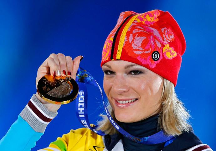 Maria Hoefl-Riesch.(Reuters / Shamil Zhumatov)