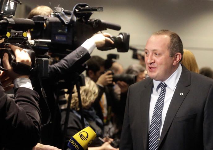 Georgia's President Giorgi Margvelashvili.(Reuters / Ints Kalnins)