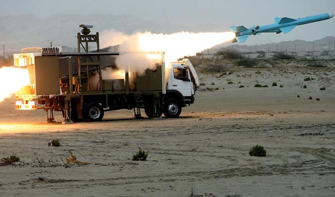 An Iranian Noor missile.(AFP Photo / MehdI Marizad )