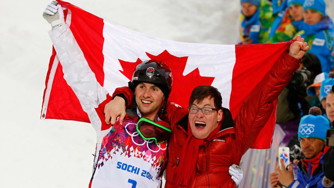 'Inspiration': Canadian mogul champ celebrates his gold with disabled brother (PHOTOS)