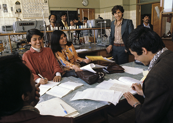 Students preparing for examinations, Kabul Polytechnic Institute, Democratic Republic of Afghanistan, 1980 (RIA Novosti / Vladimir Vyatkin)
