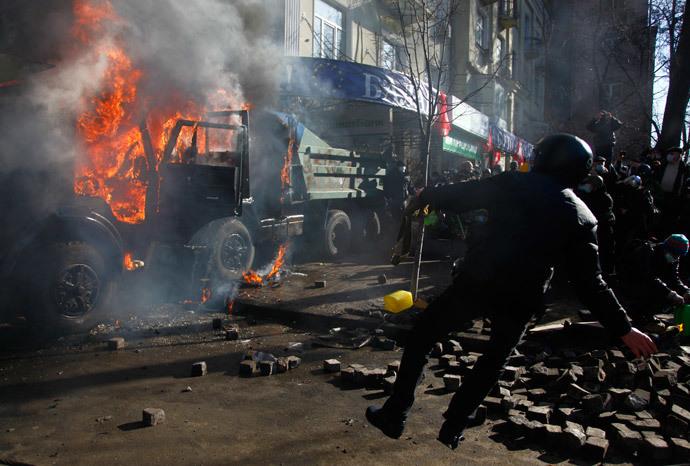 Kiev, February 18, 2014.(Reuters / Stringer)
