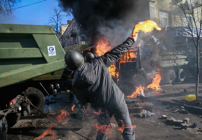 Kiev on February 18, 2014.(Reuters / Gleb Garanich)