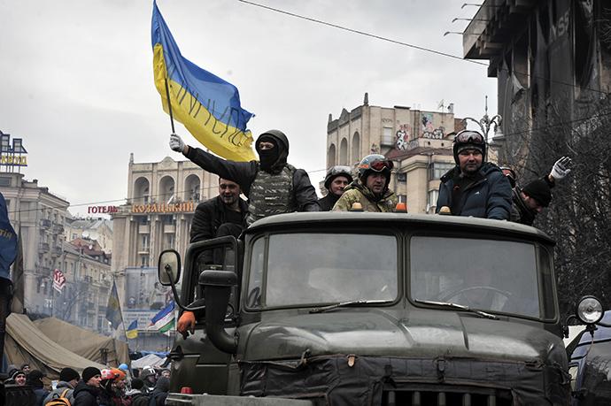 Kiev 22. helmikuuta 2014.  (AFP Photo / Louisa Gouliamaki)