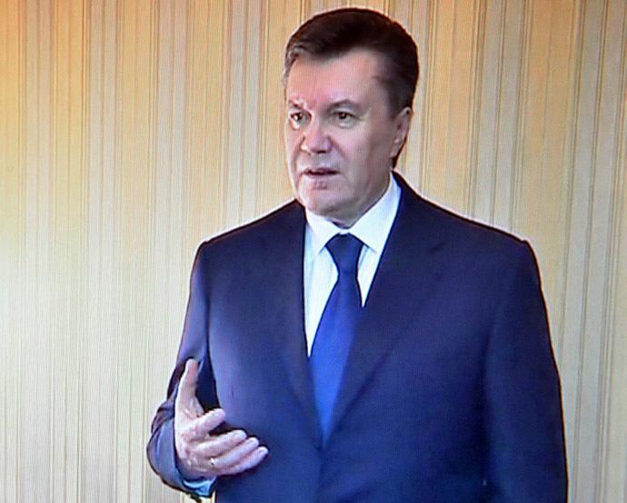 Ukrainan presidentti Viktor Janukovitshin (AFP Photo / Presidential Press-palvelu)