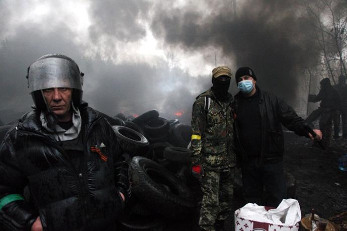 The eastern Ukrainian city of Slavyansk on April 13, 2014. (AFP Photo / Anatoliy Stepanov)