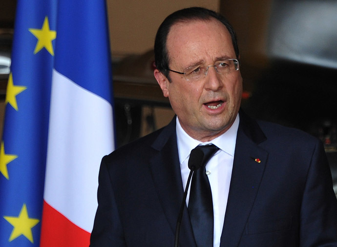 French President Francois Hollande (AFP Photo)