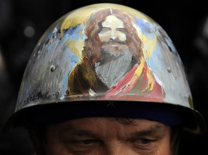 Kiovassa 27. helmikuuta 2014.  (AFP Photo / Juri Dyachyshyn)