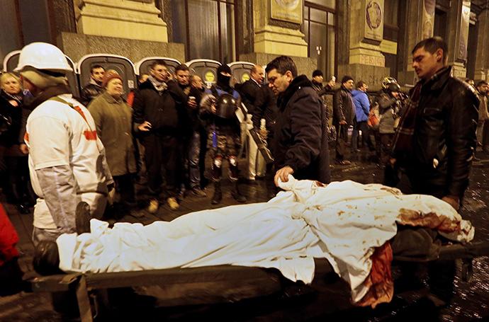 Kiova 20. helmikuuta 2014.  (Reuters / Yannis Behrakis)