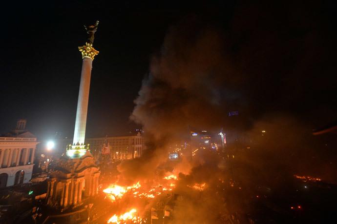 Kiova 18. helmikuuta 2014 (AFP Photo / Sergei Supinsky)