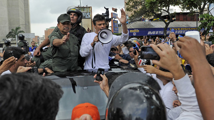 Thousands protest in Venezuela after opposition leader's arrest