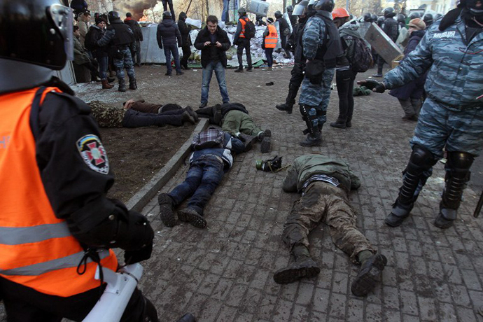Kiev, February 18, 2014. (AFP Photo / Anatolii Boiko)