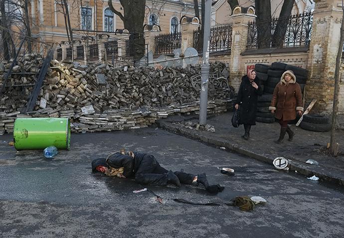 Kiev, February 18, 2014. (Reuters)