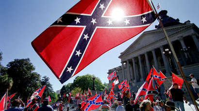 Virginians clash in heated dispute over Confederate flag flying atop public monument