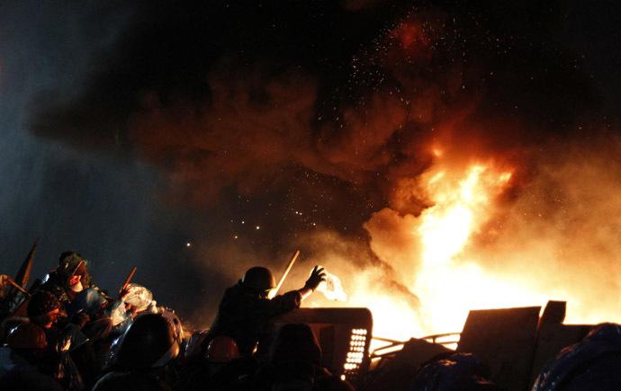 Kiev, February 19, 2014 (Reuters/David Mdzinarishvili)