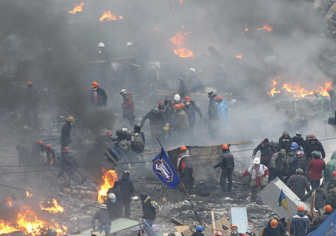 Independence Square in Kiev February 20, 2014 (Reuters/Vasily Fedosenko)