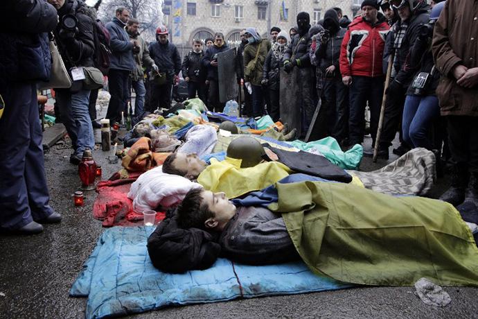 Kiev, February 20, 2014. (AFP Photo / Alexander Chekmenev)