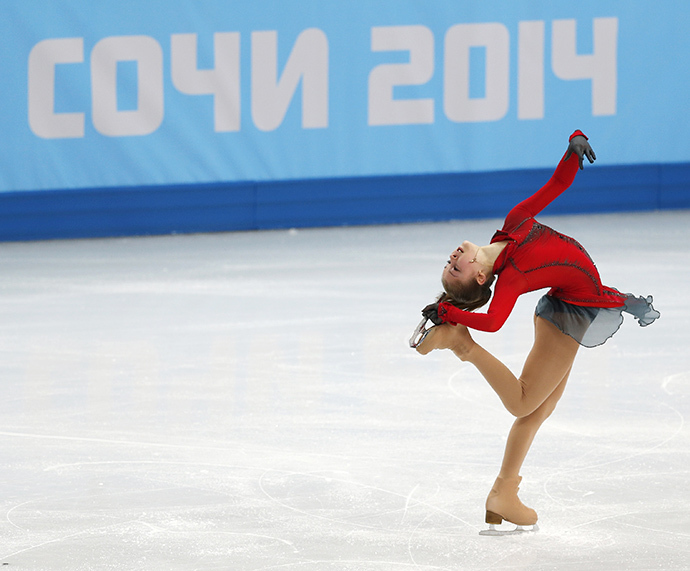 Russia's Yulia Lipnitskaya competes during the Figure Skating Women's free skating Program at the Sochi 2014 Winter Olympics, February 20, 2014. (Reuters / Issei Kato)