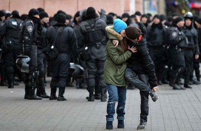 Kiev, November 30, 2013. (AFP Photo / Sergei Supinsky)
