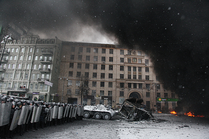 Kiev, January 22, 2014. (AFP Photo / Anatoliy Stepanov)