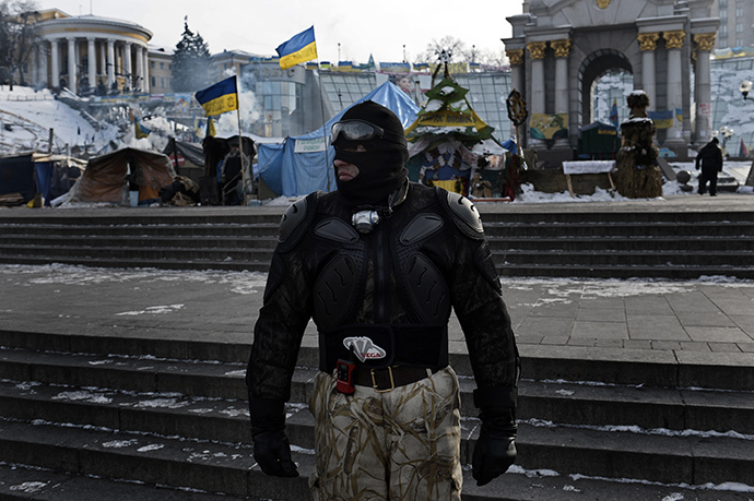 Kiev, February 1, 2014. (AFP Photo / Aris Messinis)