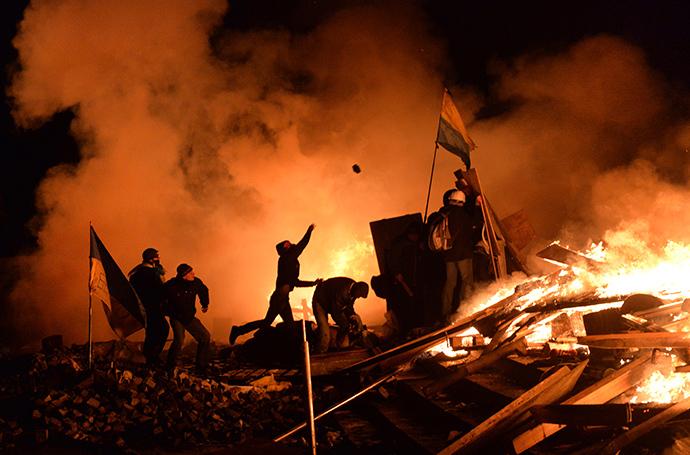 Kiev, February 19, 2014. (AFP Photo / Sergei Supinsky)
