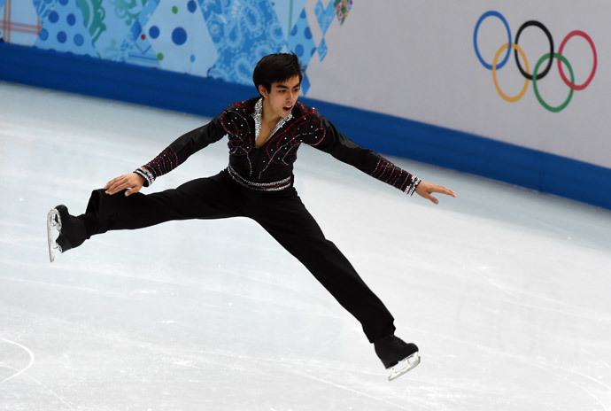 Philippines' Michael Christian Martinez performs in the Men's Figure Skating Free Program at the Iceberg Skating Palace during the Sochi Winter Olympics on February 14, 2014. (AFP Photo / Damien Meyer)