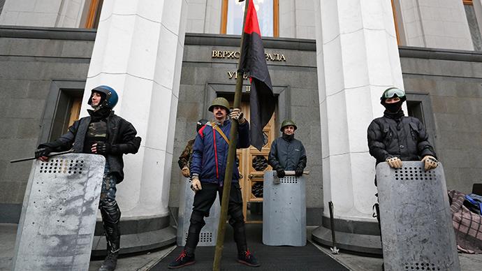The Ukrainian Parliament building in Kiev February 22, 2014 (Reuters / Baz Ratner)