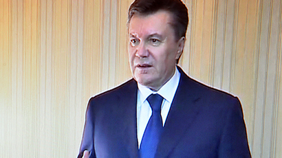 Yanukovich says he's still president, asks Russia to ensure his safety