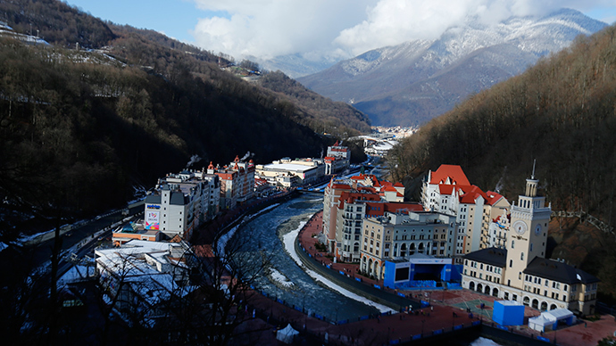 A general view of the ski resort of Rosa Khutor (Reuters / Mike Blake)