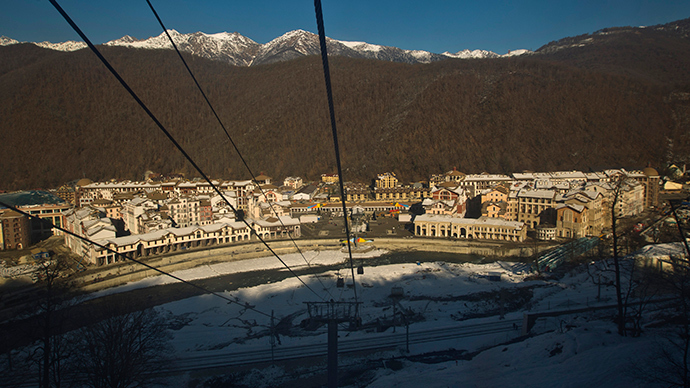 A general view of the media centre in Gorky-Gorod near the resort of Krasnaya Polyana, Sochi (Reuters / Maxim Shemetov)