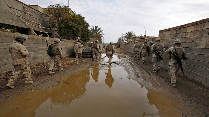 U.S. Marines from the 22nd Marine Expeditionary Unit in Iraq (Reuters / Bob Strong)