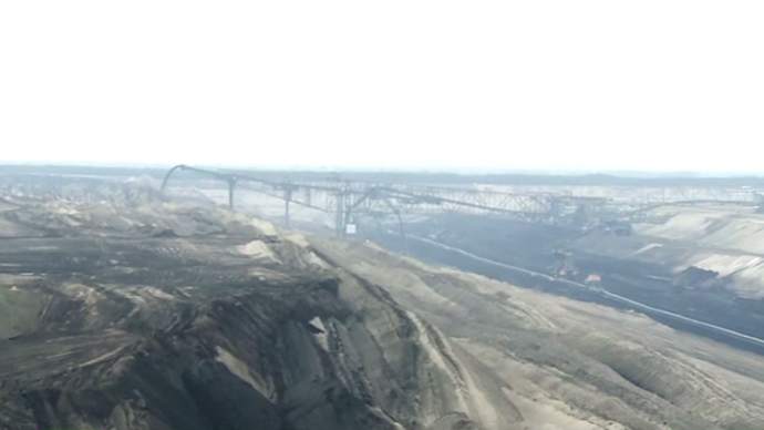 Janschwalde in East Germany, where the second-largest brown coal power plant in operation in the country is located (Still from RT video)