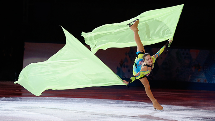 Russia's Adelina Sotnikova performs during the Figure Skating Gala Exhibition at the 2014 Sochi Winter Olympics February 22, 2014 (Reuters / Lucy Nicholson)