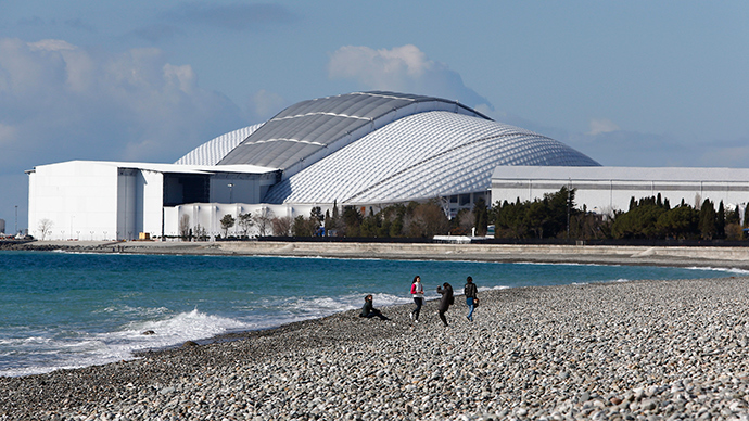 The Fisht Olympic Stadium in the background near the Olympic Park in Sochi (Reuters / Shamil Zhumatov)