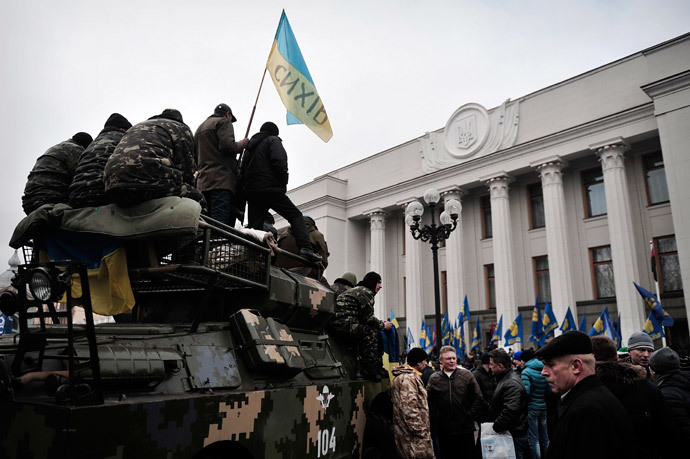 Kiev on February 27, 2014. (AFP Photo / Louisa Gouliamaki)
