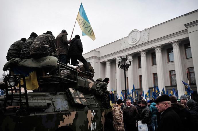 Kiev on February 27, 2014. (AFP Photo / Louisa Gouliamaki)