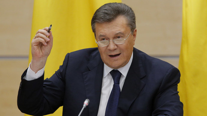 Crimea leaving Ukraine a tragedy - ousted president Yanukovich