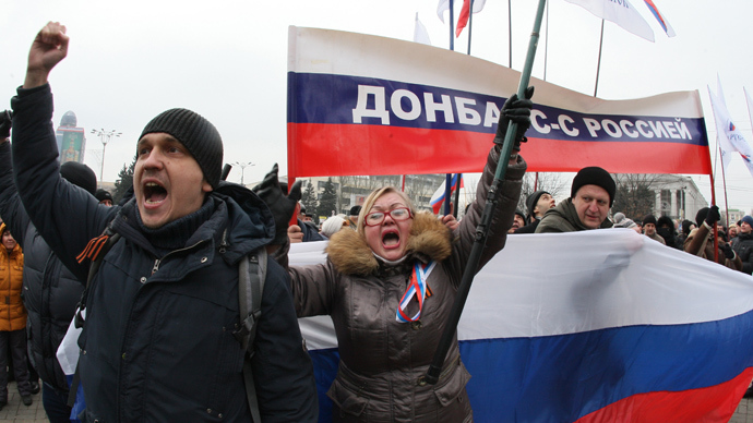Ukraine's Donetsk calls for referendum, votes to restore Russian's official status
