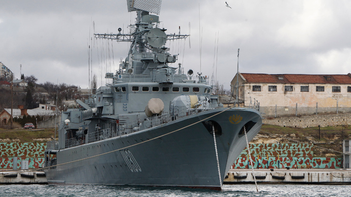 Ukrainian Navy flagship takes Russia's side – report