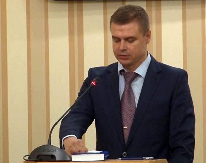 Chief of the Border Guards of Crimea Victor Melnichenko