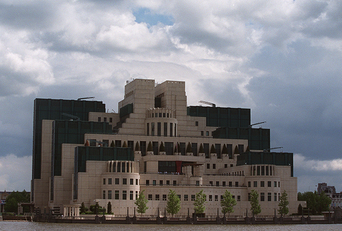 The headquarters of Britain's Secret Intelligence Service (MI6) at Vauxhall Cross on the River Thames in central London (Reuters)